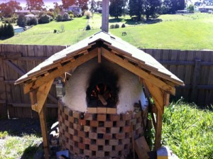 Wood fired oven in spring